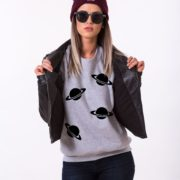 Planets Sweatshirt, Gray/Black