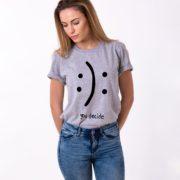 Smile, No Smile, You Decide Shirt, Gray/Black