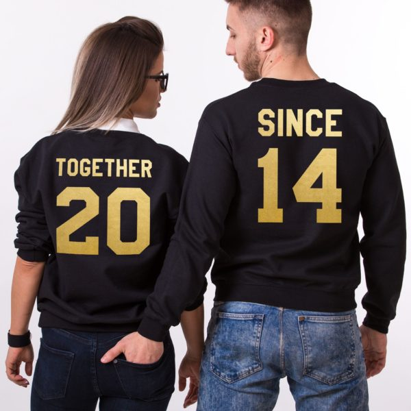 Together Since, Sweatshirt, Black/Gold