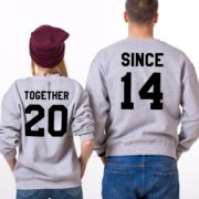 Together Since, Sweatshirt, Gray/Shirt