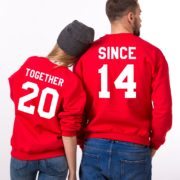 Together Since, Sweatshirt, Red/White