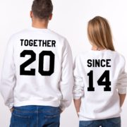 Together Since, Sweatshirt, White/Black