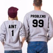 99 Problems, Aint 1, Sweatshirts, Gray/Black