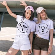 Bitch Shirt, Bitch 1, Bitch 2, Matching Best Friends Shirts
