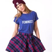 Feminist, Blue/White