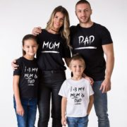 Matching Mom Dad Kid Shirts, Mom, Dad, I