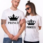Prince Princess, Big Crowns, White/Black