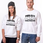 This Guy Loves his Girlfriend, Loves her Boyfriend, White/Black