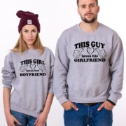 This Guy Loves his Girlfriend, Loves her Boyfriend, Gray/Black