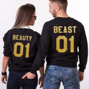 Beauty 01, Beast 01, Sweatshirts, Black/Gold