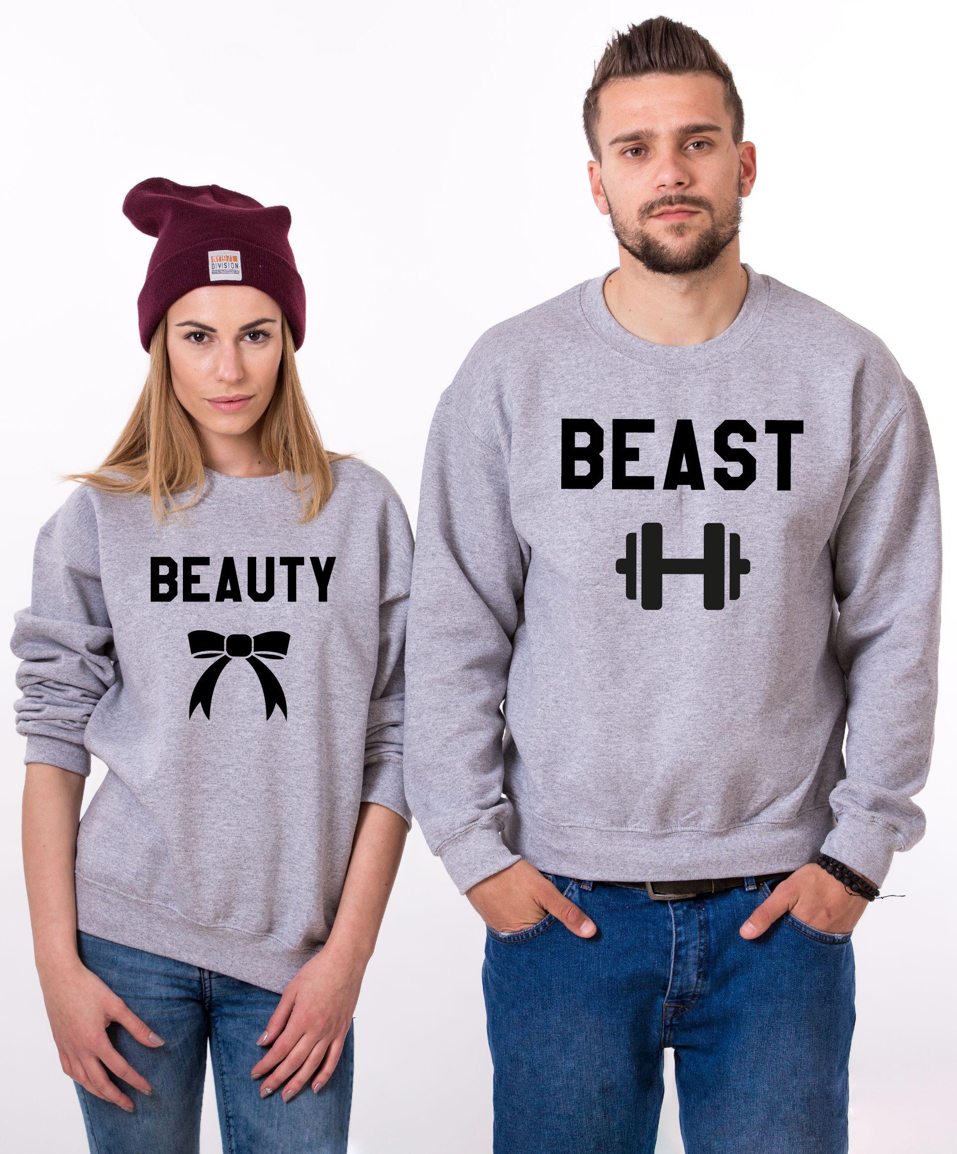 Beauty Sweatshirt Beast Sweatshirt Couples Sweatshirts