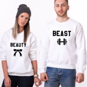 Beauty, Beast, Sweatshirts, White/Black