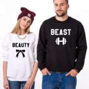 Beauty, Beast, Sweatshirts, White/Black, Black/White
