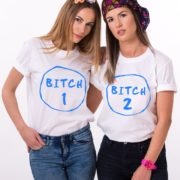 Bitch 1, Bitch 2, White/Blue
