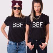 Blond Best Friend, Brunette Best Friend, Black/White