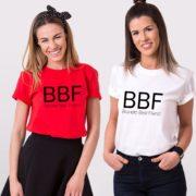 Blond Best Friend, Brunette Best Friend, Red/Black, White/Black