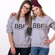 Blond Best Friend, Brunette Best Friend, Sweatshirts, Gray/Black