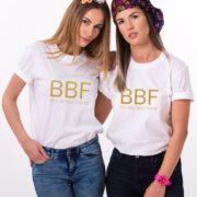 Blond Best Friend, Brunette Best Friend, White/Gold