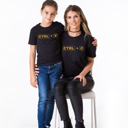 Ctrl+C, Ctrl+V, Matching Mommy and Me Shirts, Mother Kid Shirt