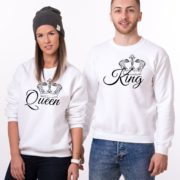 King, Queen, Crowns, Sweatshirts, White/Black