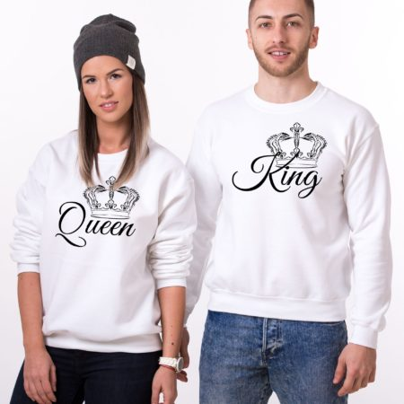 Queen Sweatshirt and King Sweatshirt, Matching Couples Sweatshirts