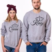 King, Queen, Gray/Black