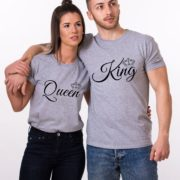 King, Queen, Small Crowns, Grey/Black