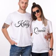 King, Queen, Small Crowns, White/Black