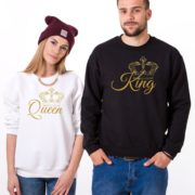 King, Queen, White/Gold, Black/Gold