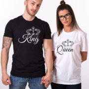 King, Queen, with big crowns, Black/White, White/Black