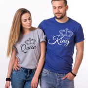 King, Queen, with big crowns, Grey/Black, Blue/White