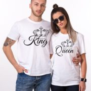 King, Queen, with big crowns, White/Black
