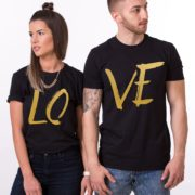 LOVE , Black/Gold