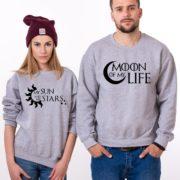 Moon of My Life, My Sun and My Stars, Sweatshirts, Gray/Black