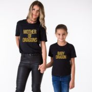 Mother of Dragons, Baby Dragon, Black/Gold