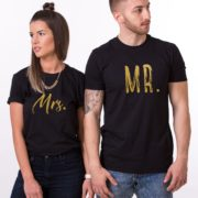 Mr., Mrs., Black/Gold