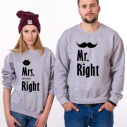 Mr. Right, Mrs. Always Right, Gray/Black