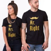 Mr. Right, Mrs. Always Right, Shirts, Black/Gold