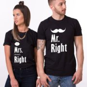 Mr. Right, Mrs. Always Right, Shirts, Black/White