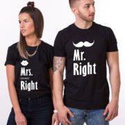 Mr. Right, Mrs. Always Right, Shirts, Black/White