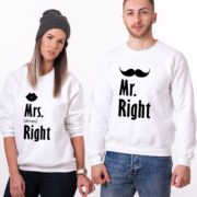 Mr. Right, Mrs. Always Right, White/Blaack
