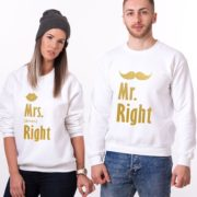 Mr. Right, Mrs. Always Right, White/Gold