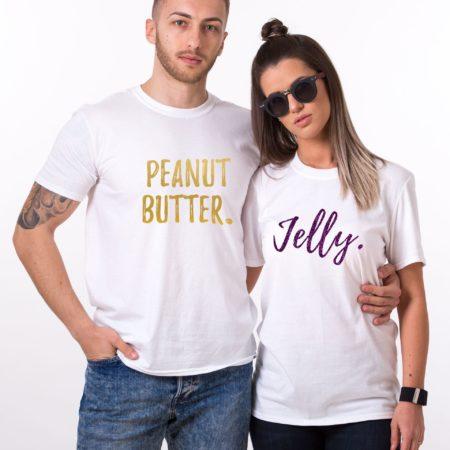 Peanut Butter Jelly Shirts, Glitter, Matching Couples Shirts