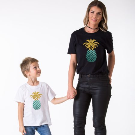 Pineapple Shirts, Glitter, Matching Mommy and Me Shirts