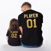 Player 01, Player 02, Black/Gold
