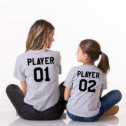 Player 01, Player 02, Gray/Black