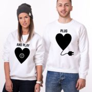 Plug and Play, Sweatshirts, White/Black