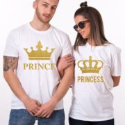 Prince Princess, Big Crowns, White/Gold