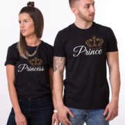Prince Princess Crowns, Black/White