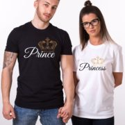 Prince Princess Crowns Shirts, Matching Couples Shirts